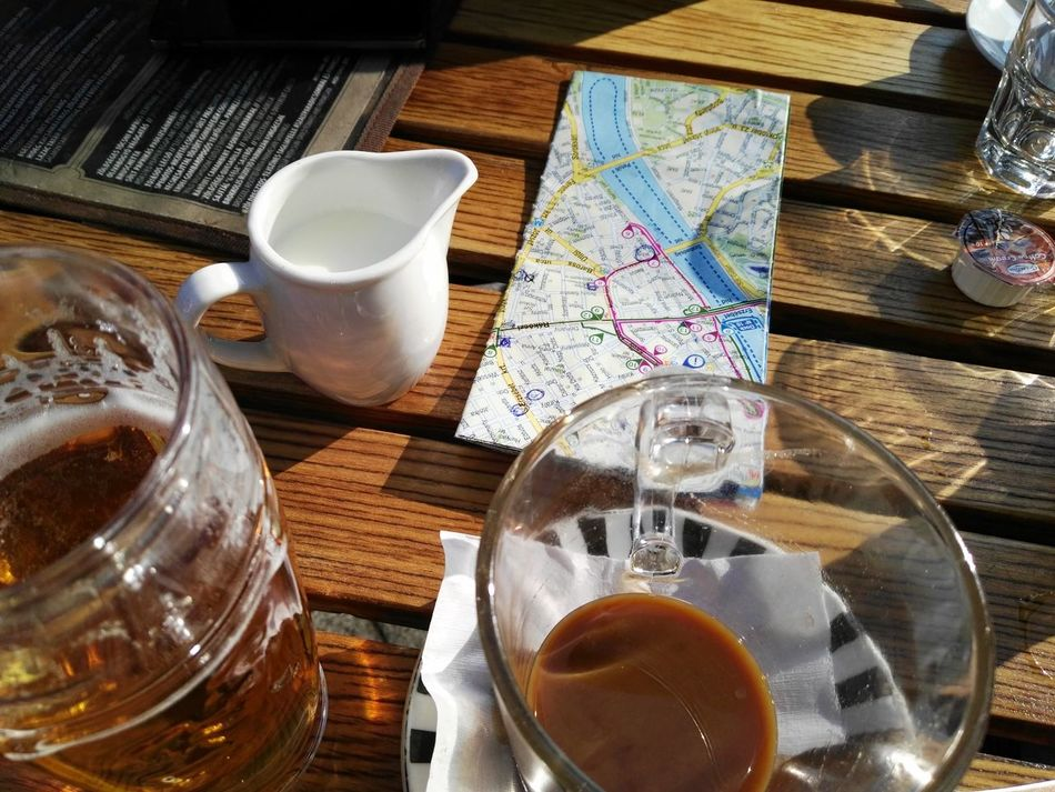Budapest, Hungary Travel Destinations Traveling Table Drink Beer Coffiee Time Coffie Milk Map