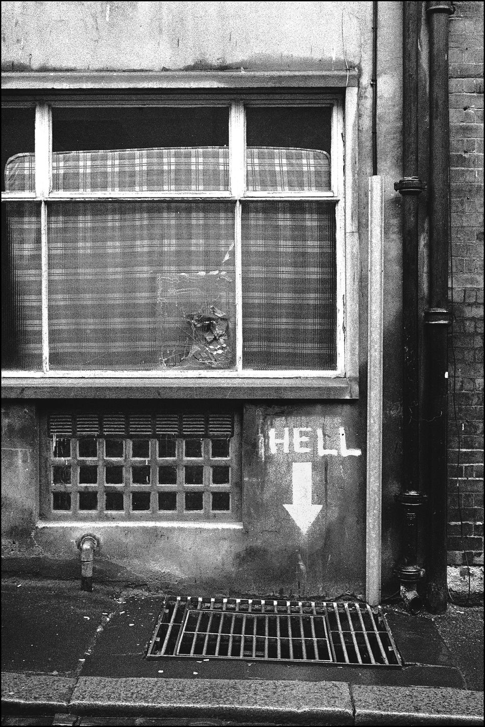 Hell. Architecture Brick Wall Building Building Exterior Built Structure City Close-up Closed Day Exterior Façade Graffiti Art No People Outdoors Paint,