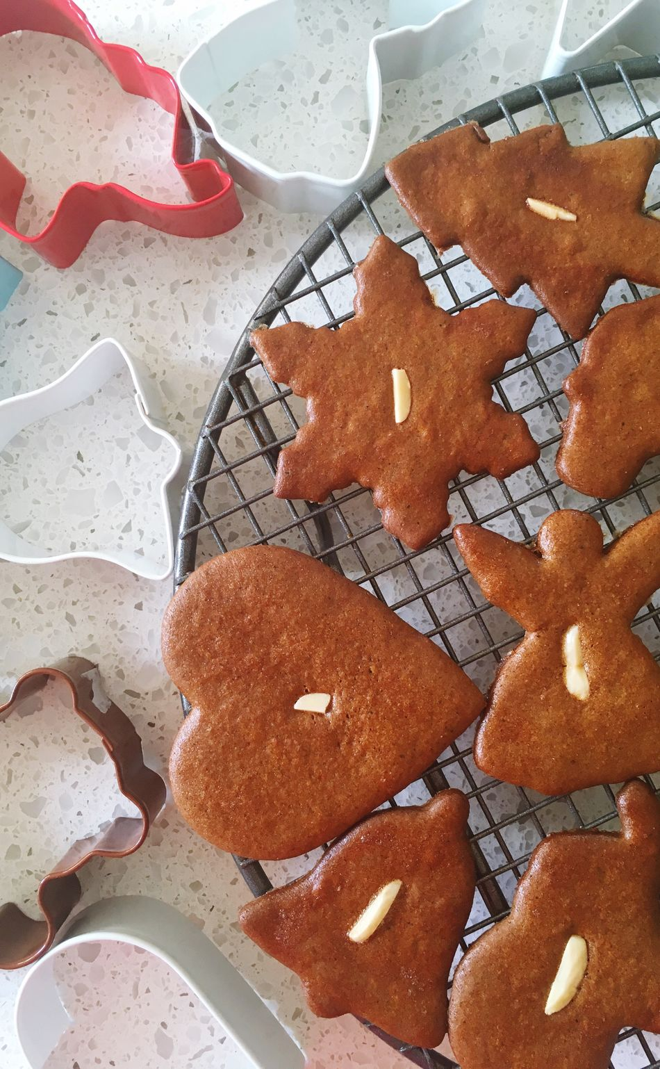 High Angle View Food And Drink Red Sweet Food Close-up No People Freshness Food Temptation Indoors  Day Cookies Piparkukas Gingerbread Cookie Cutters Gingerbread Cookie Christmas Baking Biscuits Pastry Cutter Cookie