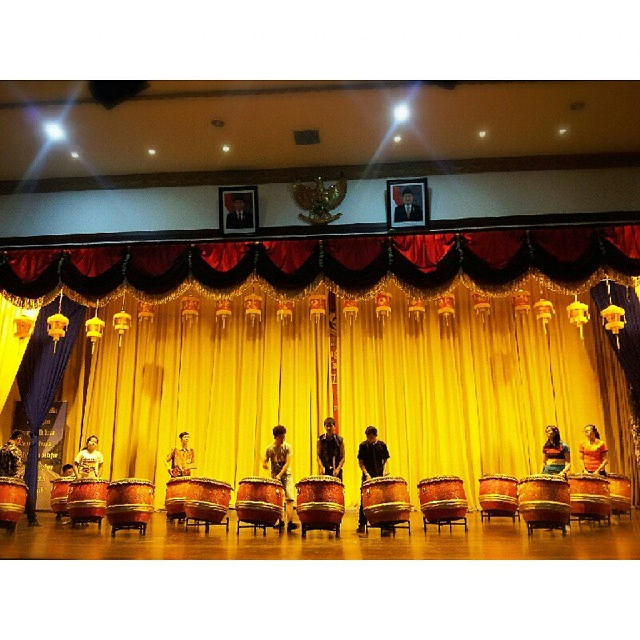Practice makes perfect. This is our stage Cny 打鼓 Preparation  STBA_PIA