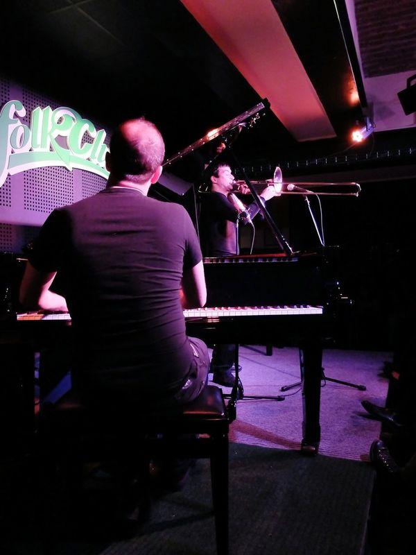 Soupstar Duo (Petrella & Guidi) Music Musical Instrument Performance Piano Musician Jazz Jazz Concert JazzMusic Playing Eye4photography  Photooftheday Performing Arts Trombone Trombonist Piano🎶