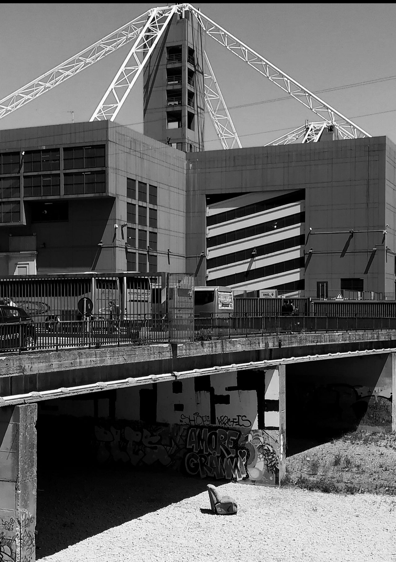 Architecture Business Finance And Industry Built Structure No People Building Exterior Outdoors Day Water Black And White Black & White