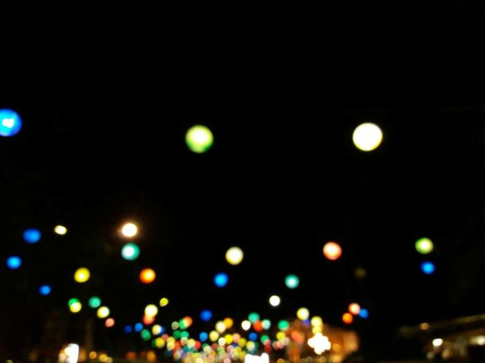 Colourful Night Street Light Outdoors Colors Light Lights City