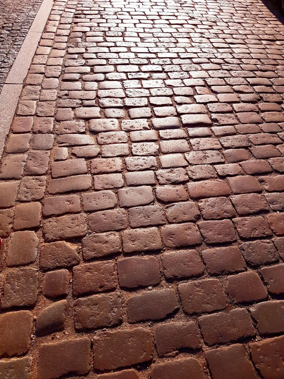 Full Frame Backgrounds Pattern Day No People Outdoors Close-up Poland Bydgoszcz Cobblestone Textured