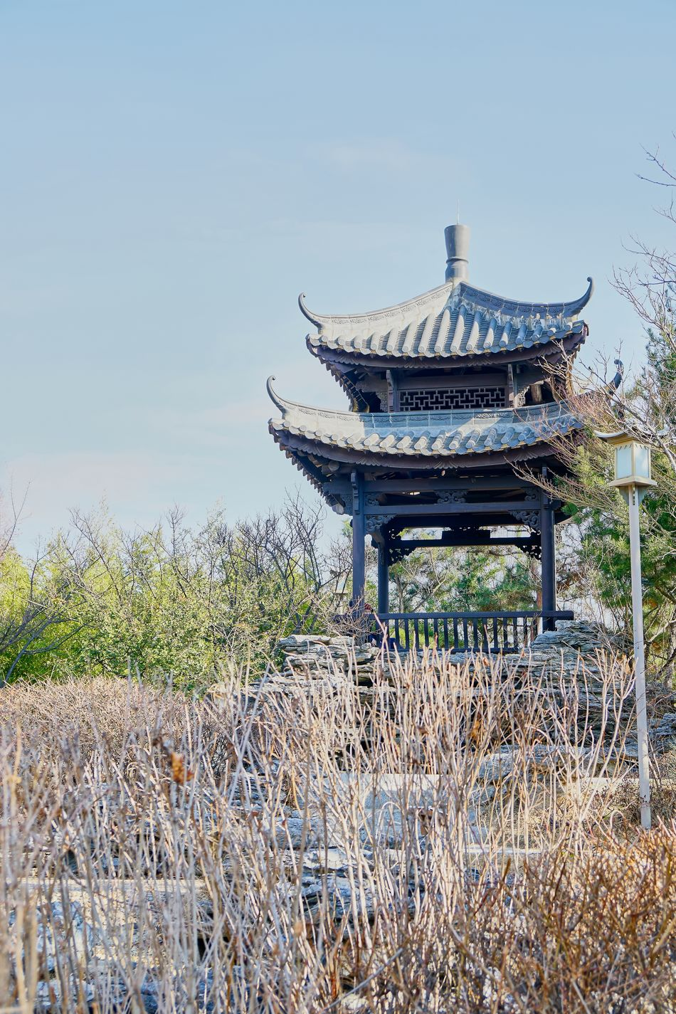Architecture Beauty In Nature Chinese Style Chinese Style Building Clear Sky Day Landscape Nature Outdoors Sky