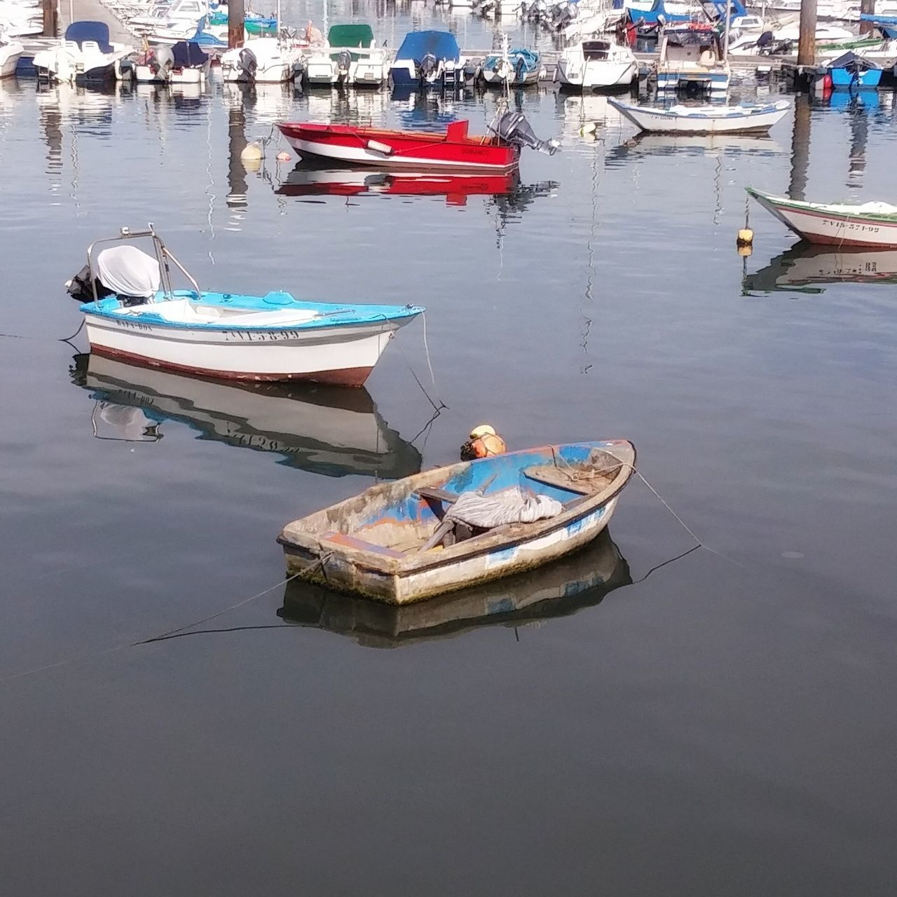 Nautical Vessel Transportation Boat Water Reflection Waterfront Sea Marina Day Dock Harbor Blue Calm