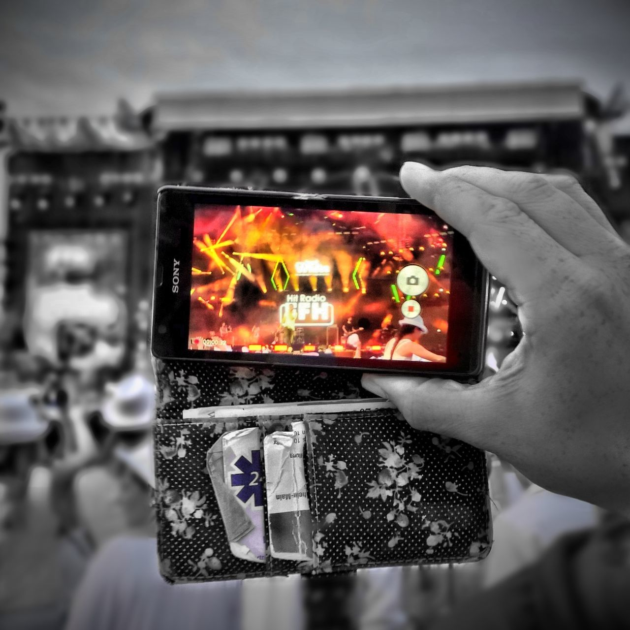 Framing the festival... Close-up Color Pop Communication Focus On Foreground Hofgeismar Holding Human Hand Lumia930 Technology