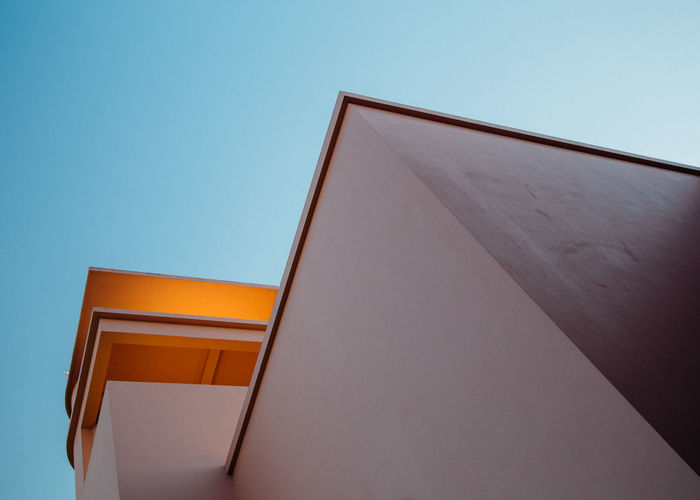 Serralves Architecture Art Deco Building Exterior Built Structure Clear Sky Color Copy Space Day Low Angle View No People Outdoors Sky
