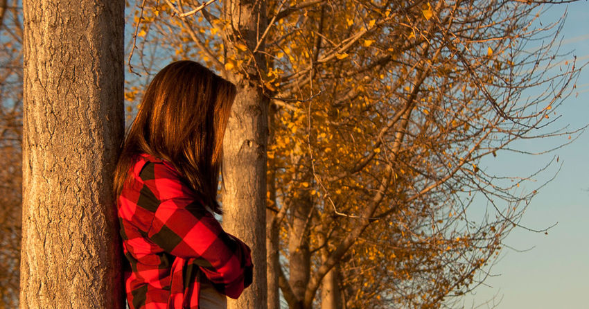 Autumn Close-up Day Leaf Long Hair Nature One Person One Woman Only Outdoors People Red Standing Tree Tree Trunk Women