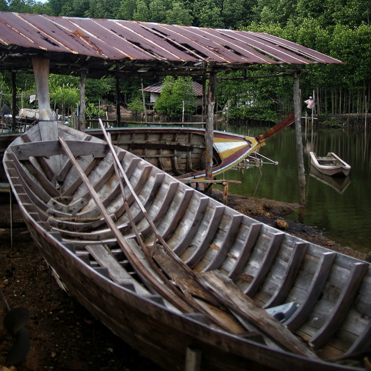 Outdoors Water Day Boats No People EyeEmNewHere Mangrove Forest Pier Fishermenvillage Repair