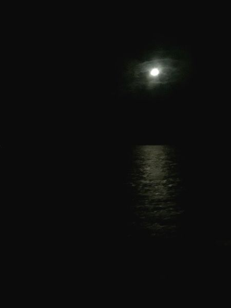 Moon over water Moon Night Nightphotography Full Moon Moonlight