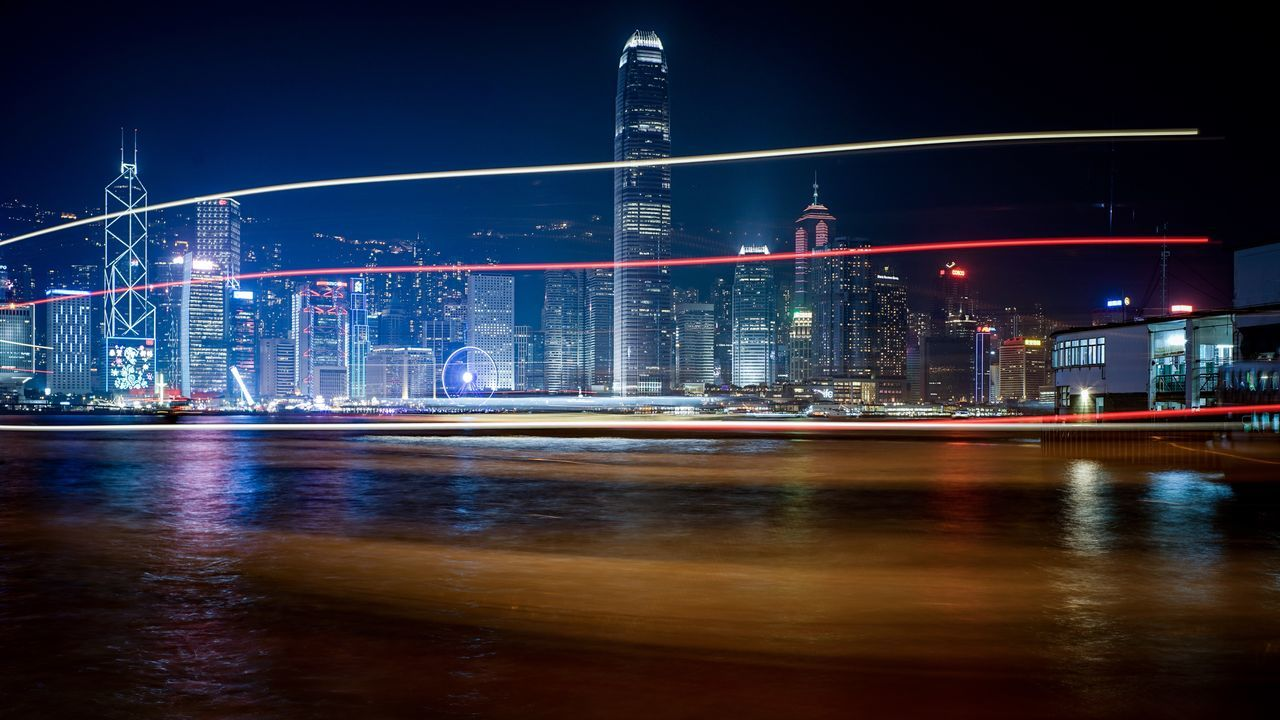 light trails Discoverhongkong Long Exposure Slow Shutter Light In The Darkness Beautiful Buildings Cityscapes Hello World Captured Moment Found On The Roll From My Point Of View Walking Around Taking Photos Moments Of Life Life In Motion EyeEmNewHere Moment Of Silence Lifestyles EyeEm Masterclass EyeEm Gallery Capture The Moment City Life EyeEm Best Edits Sumillux35mm1st Oldlens