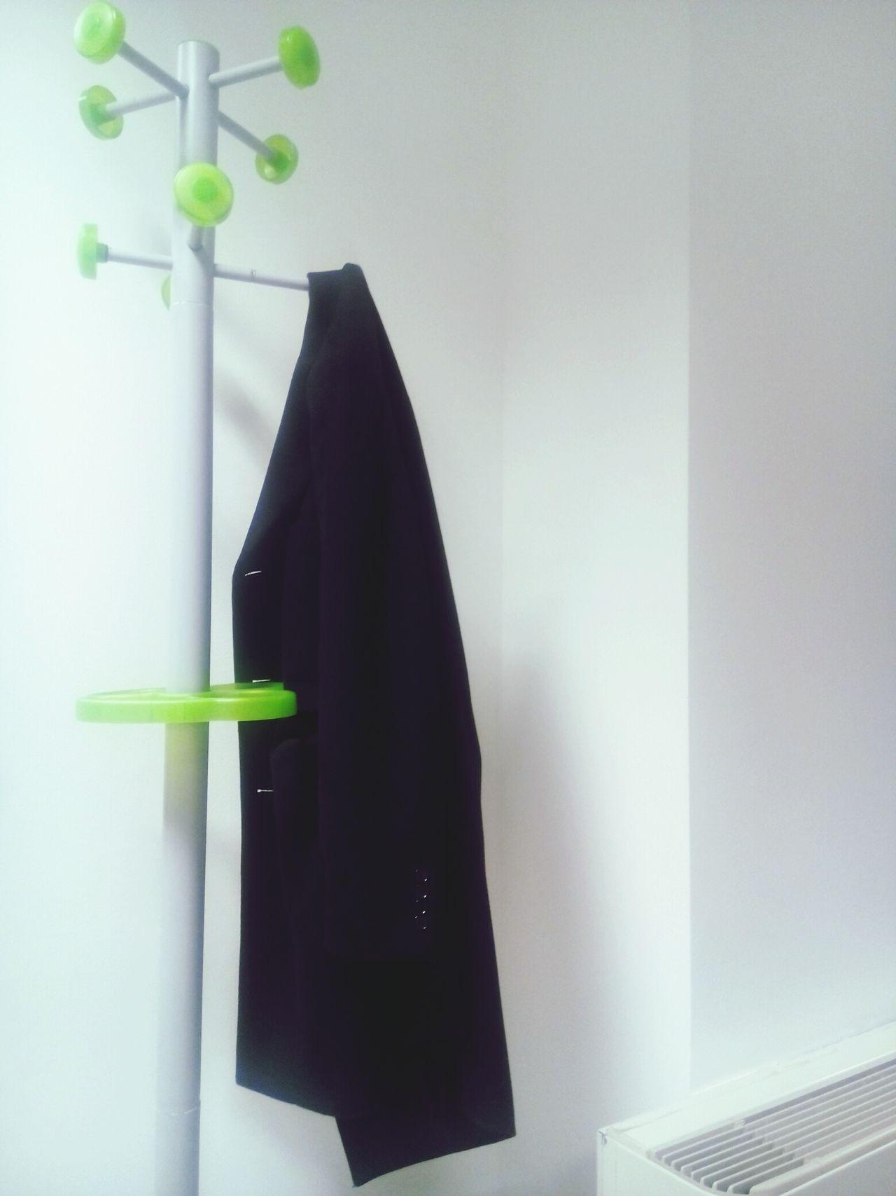 Green Color Plant Indoors  No People Black Color Day Coathanger Hanger Hanger Dress Coat Office Building Officeview