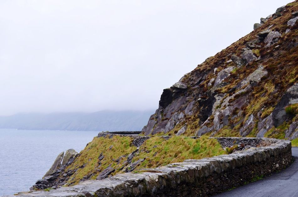 Nature Beauty In Nature Sea Water Scenic Drive Dingle Ireland Tranquility Cliff Sky Rock - Object Scenics Tranquil Scene No People Outdoors Day Scenic Lookout