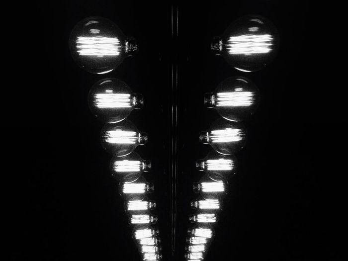 No People Indoors  Pattern Close-up Day Vintage Light Blackandwhite Light Bulb