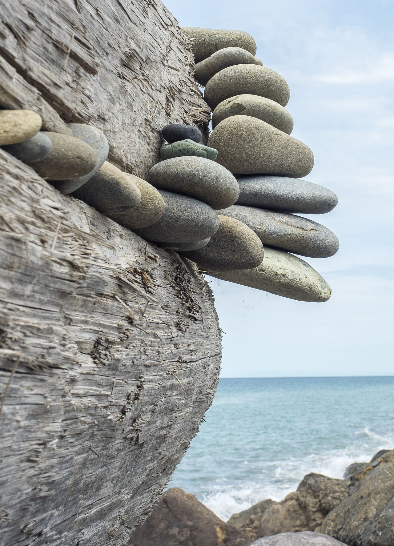Balance Beauty In Nature Close-up Day Horizon Over Water Nature No People Outdoors Rock - Object Rock Formation Scenics Sea Sky Stack Water