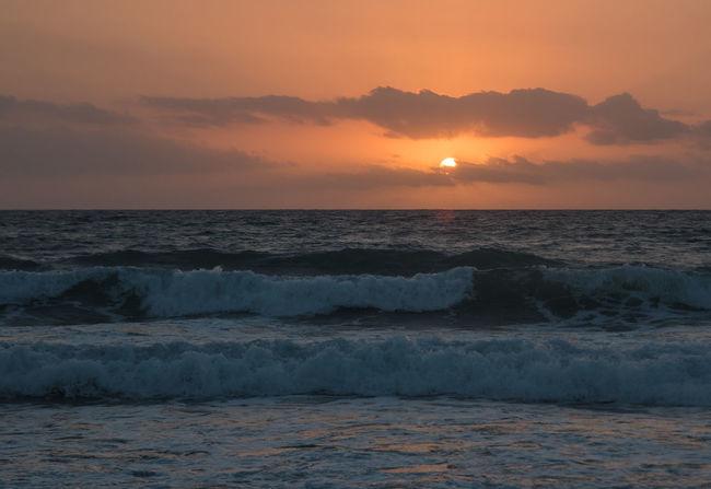 Sunrise over Mojacar Beach Horizon Over Water No People Orange Color Outdoors Sea Seascape Sky Sun Sunrise_Collection Sunrise_sunsets_aroundworld Tranquil Scene Water Wave