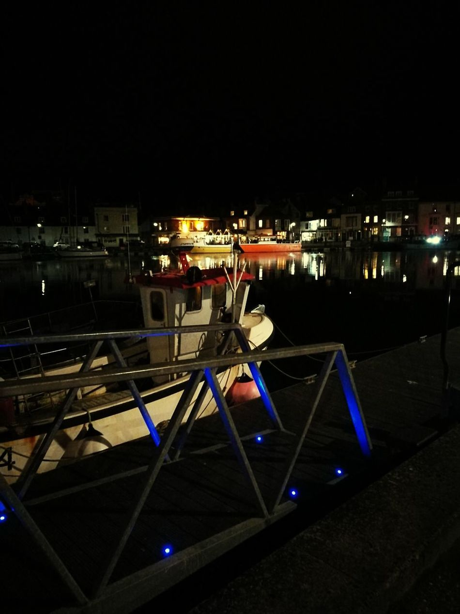Outdoors Night Illuminated No People Sky Harbour Weymouth Harbour Lights Reflections Tourism Landscape Weymouth Dorset Lights Sea