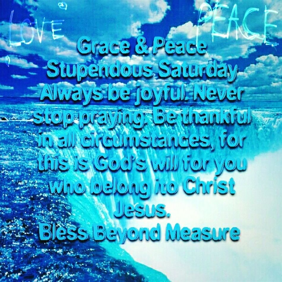 Grace & Peace Stupendous Saturday