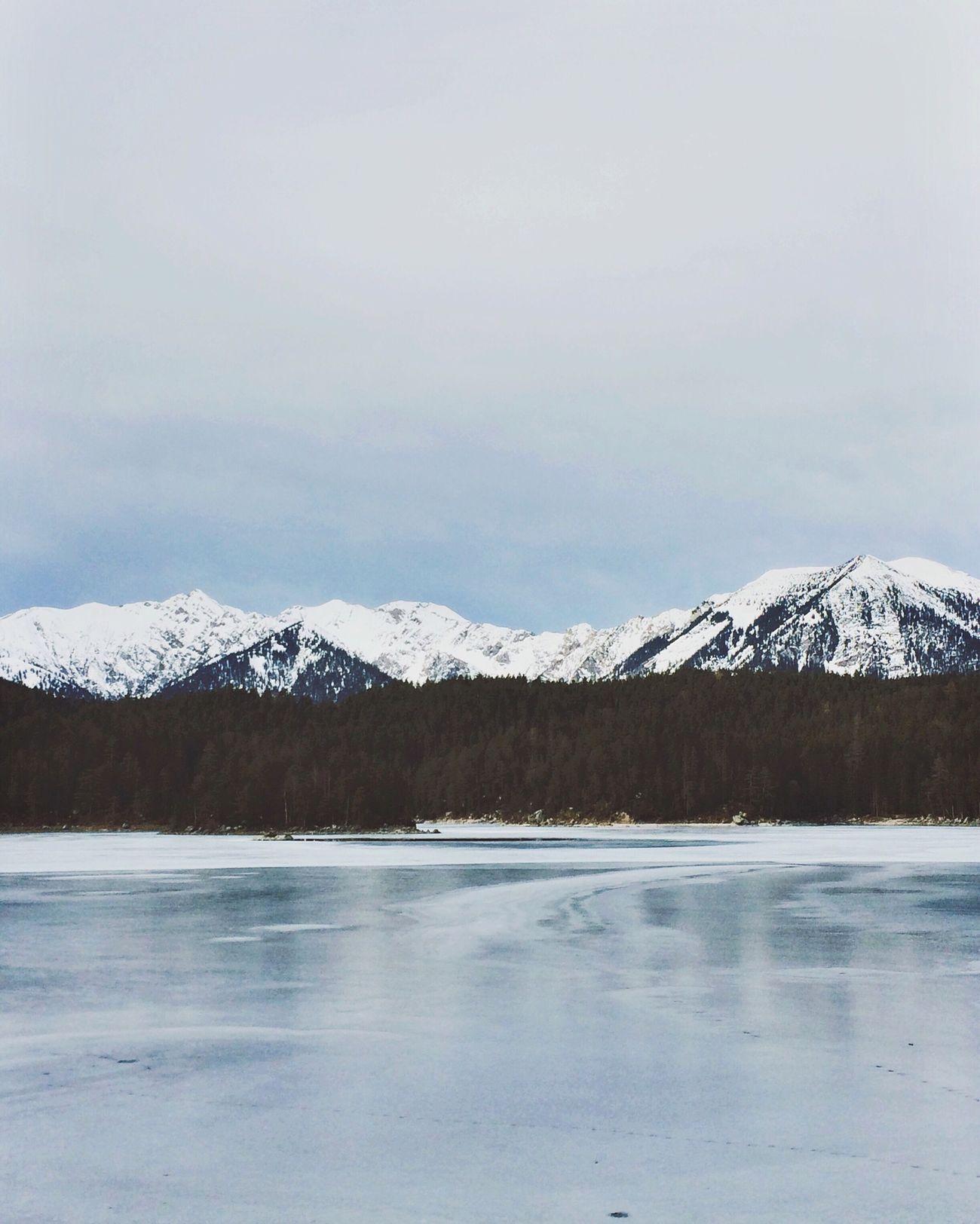 Still winter. The Week Of Eyeem IPhoneography Ice Winter EyeEm Best Shots - Nature Eibsee Winter Wonderland Bavarian Alps Naturelovers Lake Wintertime Bavaria Snow Mountains And Sky