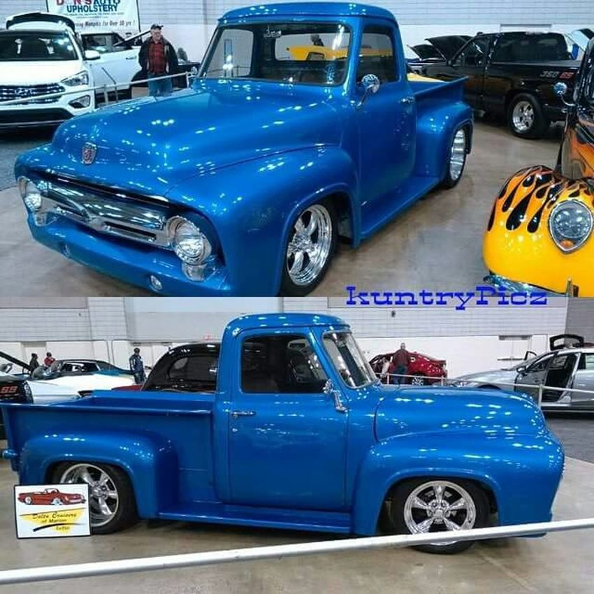 Autoshow Truck Ford Classictruck Collage CarShow Photography View Indoor Antique