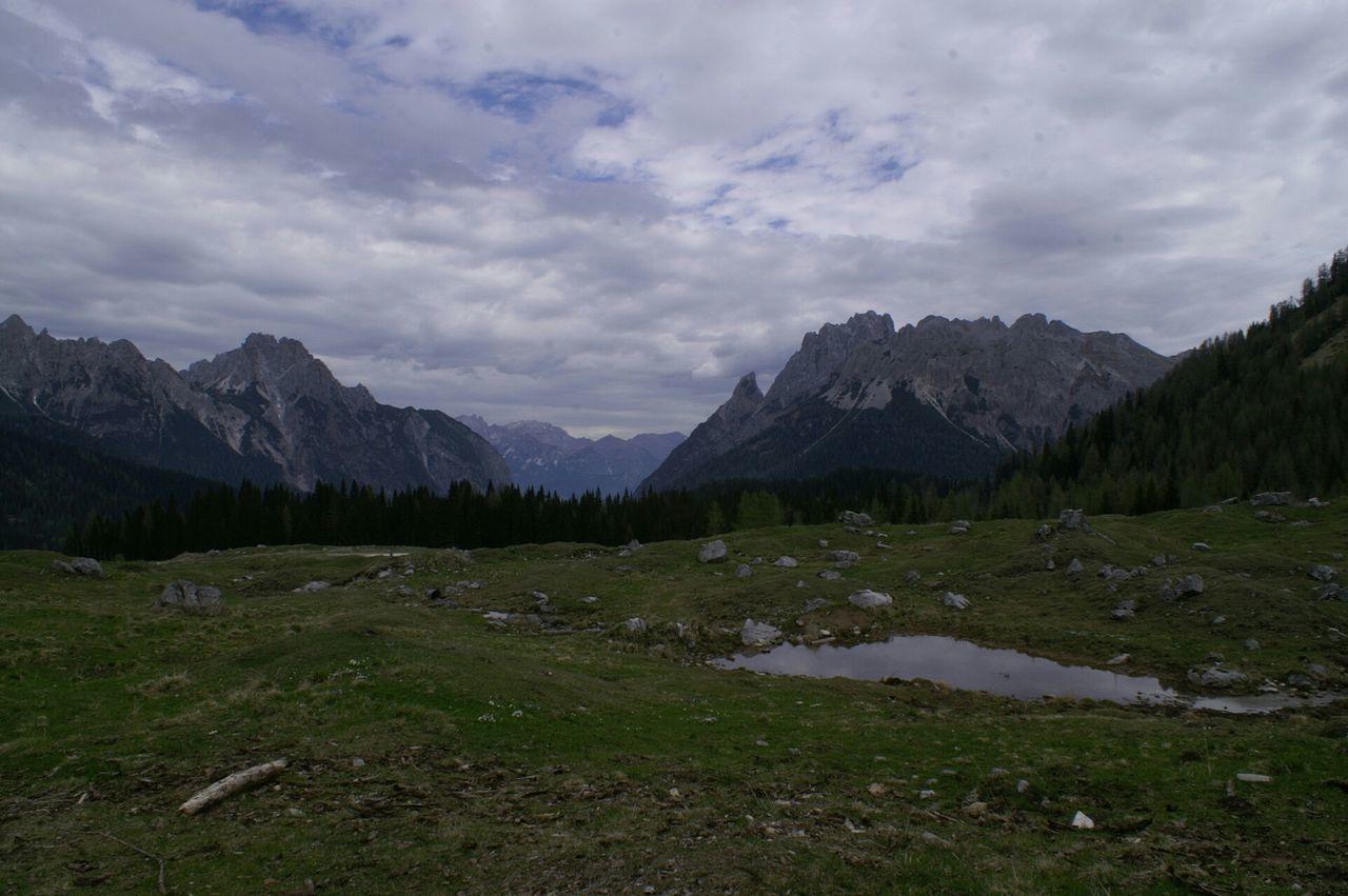 Panorama Mountains Sauris Clouds