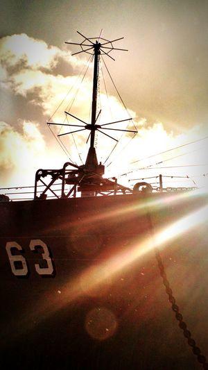 Showcase: December Honolulu  Hawaii Morning Light WW2 Memorial Battleship Missuori Sky Morning Sky