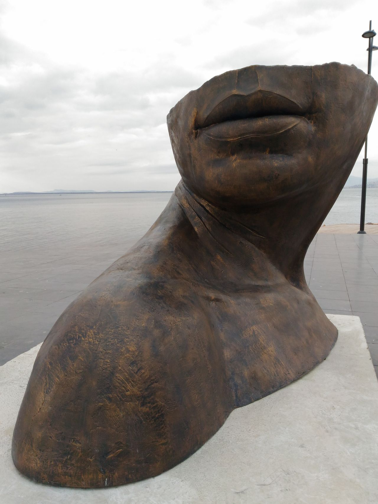 Sea Sky Day Outdoors Human Body Part Best Eyem Photo Statue HEAD Bronze Statue Funny Faces Men Having Fun Good Times Best Shots EyeEm Türkei