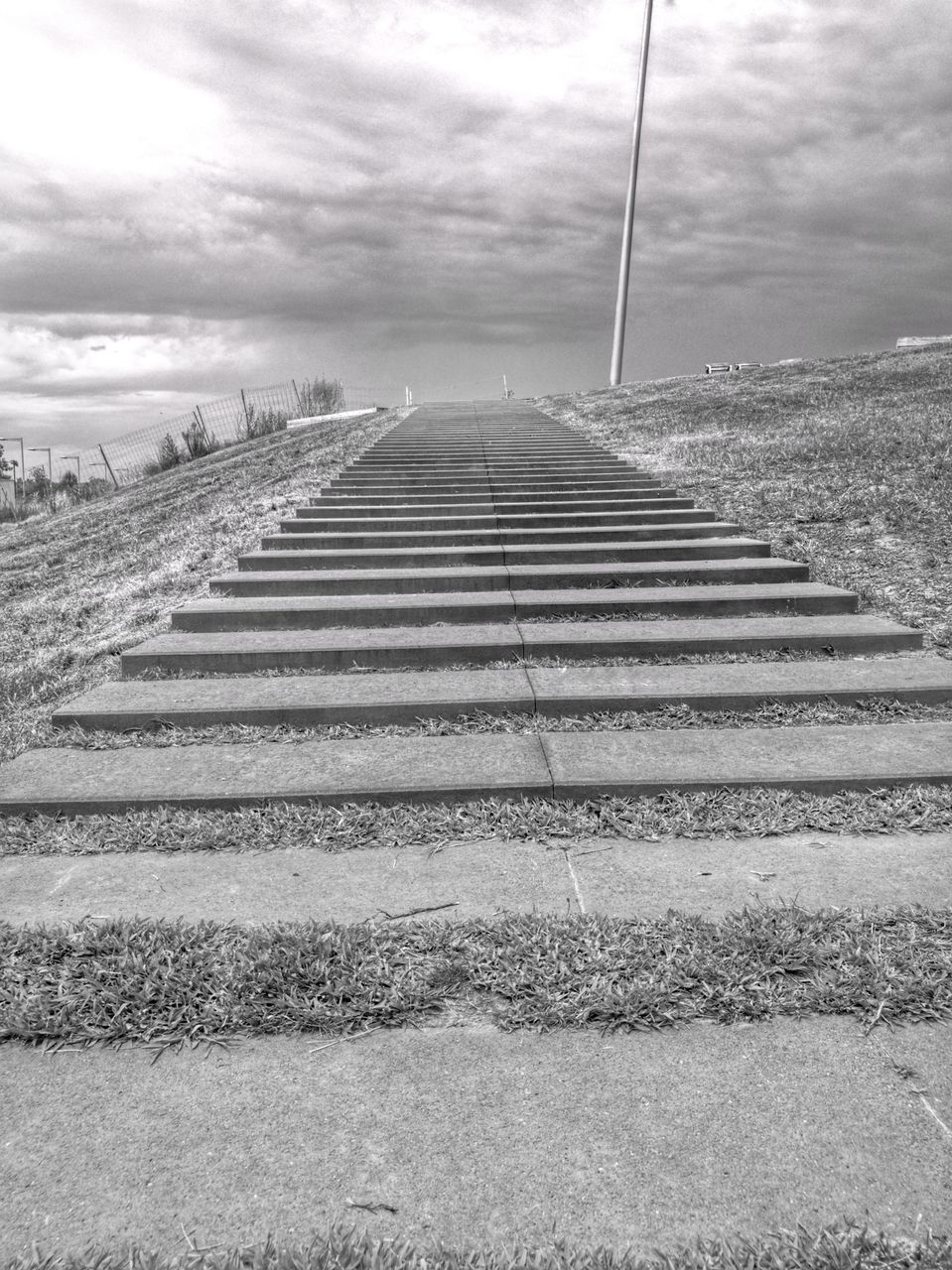 steps, day, sky, no people, cloud - sky, outdoors, nature