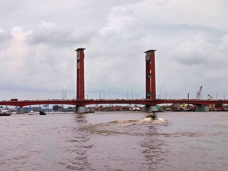 Ampera Bridge, Palembang, Indonesia Water Sea Sky Built Structure Architecture No People Building Exterior Landscape Finding New Frontiers