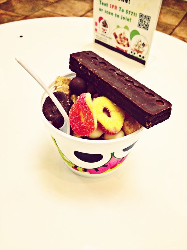 Chocolate Candy Froyo Frozen Yogurt