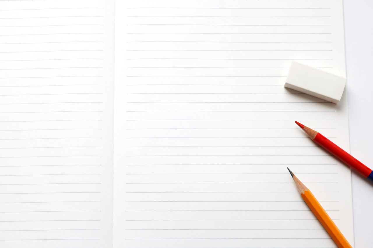 Copy Space Eduction Learnig  Learning Time Note Note Pad Notebook Notebook Paper Office Tools Paper Paperwork Pen Pencil Qualifica School Sheet Studio Shot Study Study Tools Studying Tools White Background Working Writing Writing Instrument