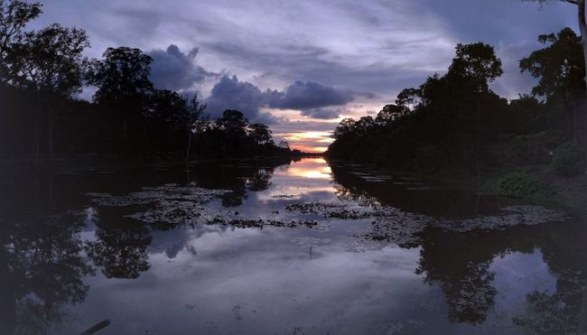 Angkor Thom Sunset Cambodia