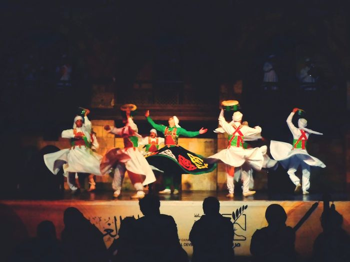 Sitting Indoors  Skill  Tradition Performance People Performing Arts Event Real People Togetherness Adult Adults Only Day Dancing Sufi Multi Colored Arts Culture And Entertainment Egyptian Folklore Egyptian Art Whirling Dervishes Spirituality Dervish Dance Sufisoul Whirling Sufism A Night To Remember