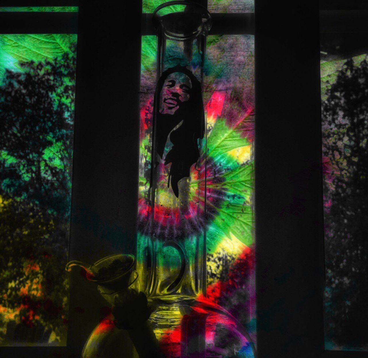 Having too much fun with 'Double Exposure' or in this case 'Triple Exposure' haha...Rasta Tye Dye, a Cannabis Leaf, and my bong Bob (Marley)...Makes for a pretty tripped out pic!! Real People One Person Multi Colored Lifestyles Leisure Activity Indoors  Day People Bong Trippy Bob Marley RASTA Tyedye Peace Love Happiness Come Together Can't We All Get A Bong? Pot Leaf Don't Panic It's Organic Fire Cali Green California Dreaming