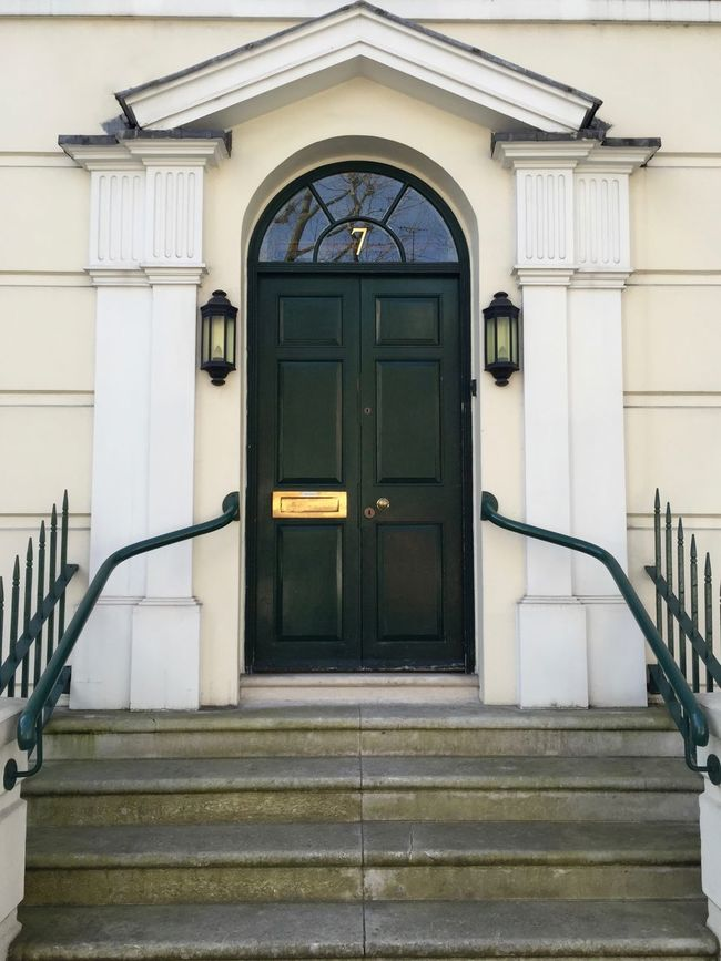 Sapin Building Built Structure Closed Day Door Entrance Façade London No People Nothing Hill Nothinghill Outdoors Stairs Steps White Wood - Material
