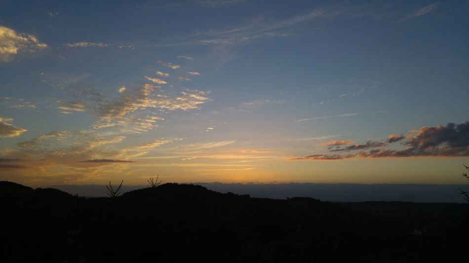 Sunset Silhouette Sky Nature Landscape Outdoors Tranquility No People Beauty In Nature Scenics Travel Destinations Vacations Tree City Mountain Day Astronomy Beauty In Nature Iserlohn Nature Multi Colored Sauerland
