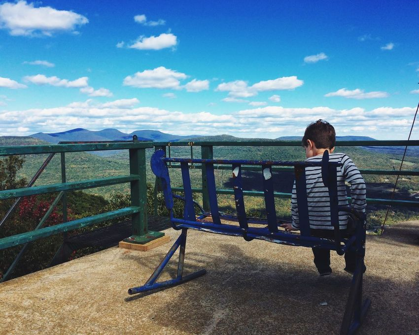 Finding New Frontiers Railing Childhood Child Blue One Person Sky Sea Children Only Outdoors People Day Beauty In Nature Nature Adult Junior High Student