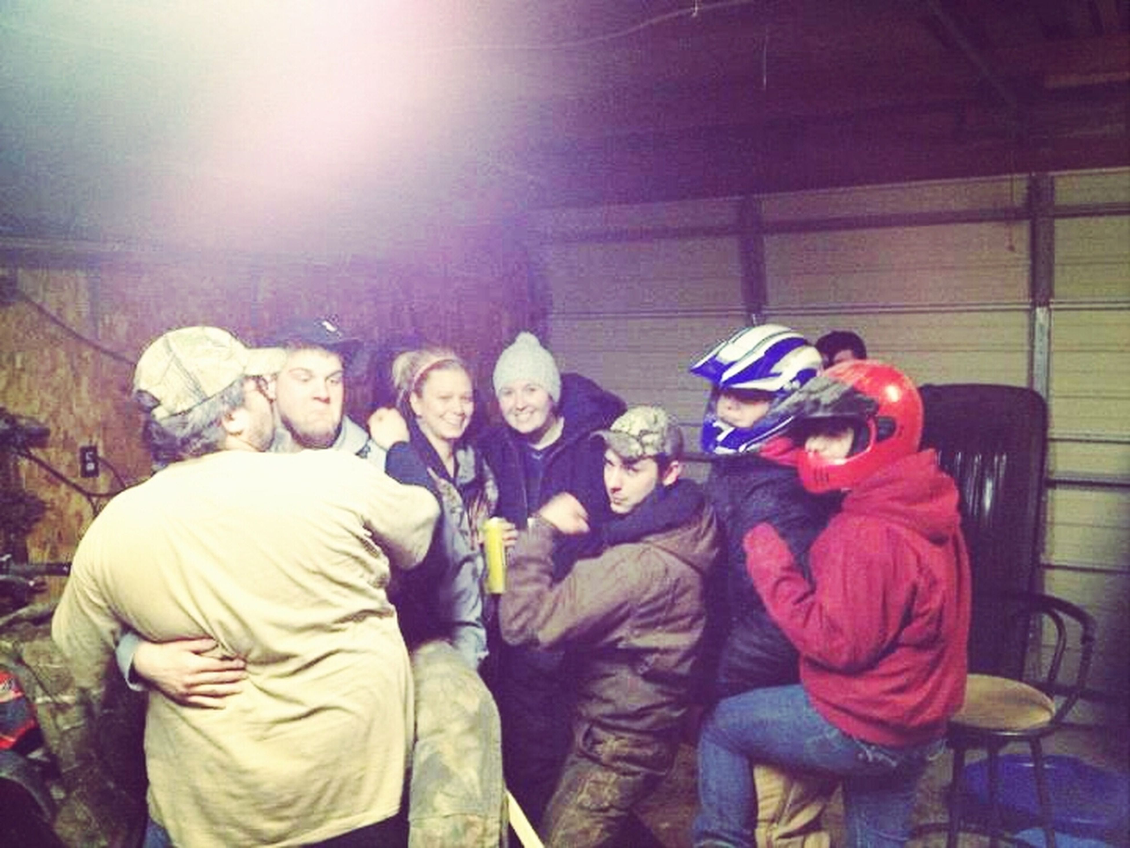 Getting Ready To Sled At Night Down Long Country Roads (;