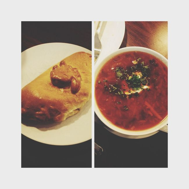 Borscht & potatoe and cheese piroshki ? Russianfood