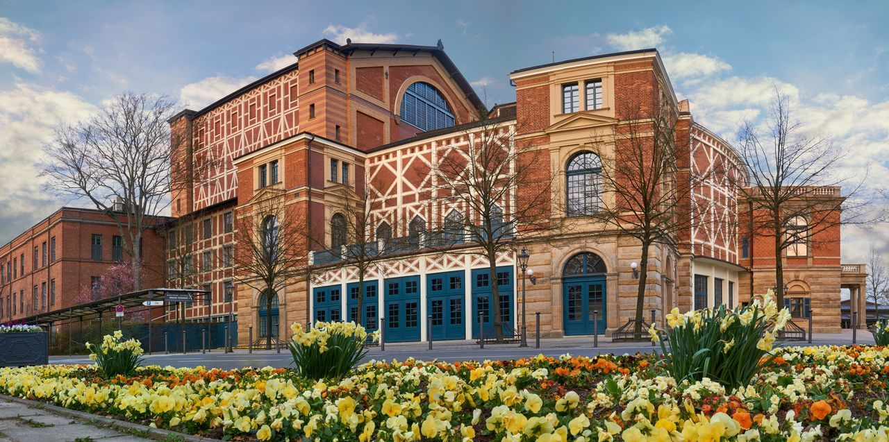 Building Exterior Flower Window Architecture Travel Destinations Outdoors History Nature Famous Famous Place Sight Germany Theatre Festival Wagner Architecture Built Structure Bayreuth Wagner Opera Bayern Germany City