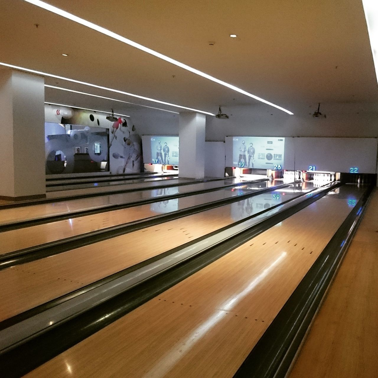 Bowling alley at PVR BluO, Elante Mall, Chandigarh. Indoors  No People Bowling Bowling Alley Architecture Bluo Elante ElanteMall Chandigarh Sports Games Indoor Games