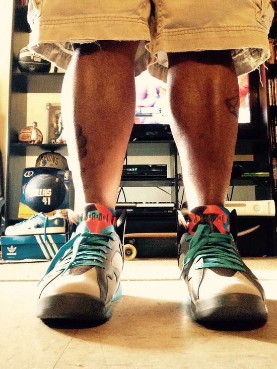 Jordan7s Sneakerhead  Kicksoftheday Kicks That's Me Tattooed Jordans Fashion Street Fashion Check This Out