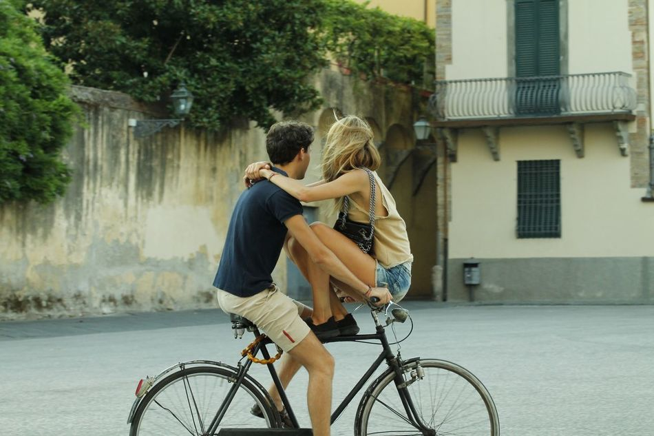 Beautiful stock photos of fahrrad, two people, love, young adult, togetherness