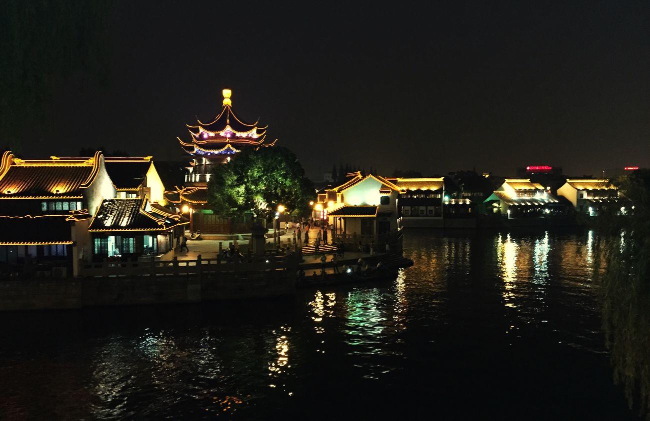 七里山塘的夜 苏州的河