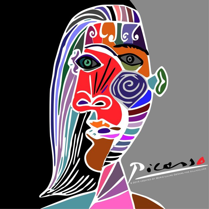 Sillycolors Picasso Pablo Picasso Style Pablo Picasso Digital Painting Digital Art
