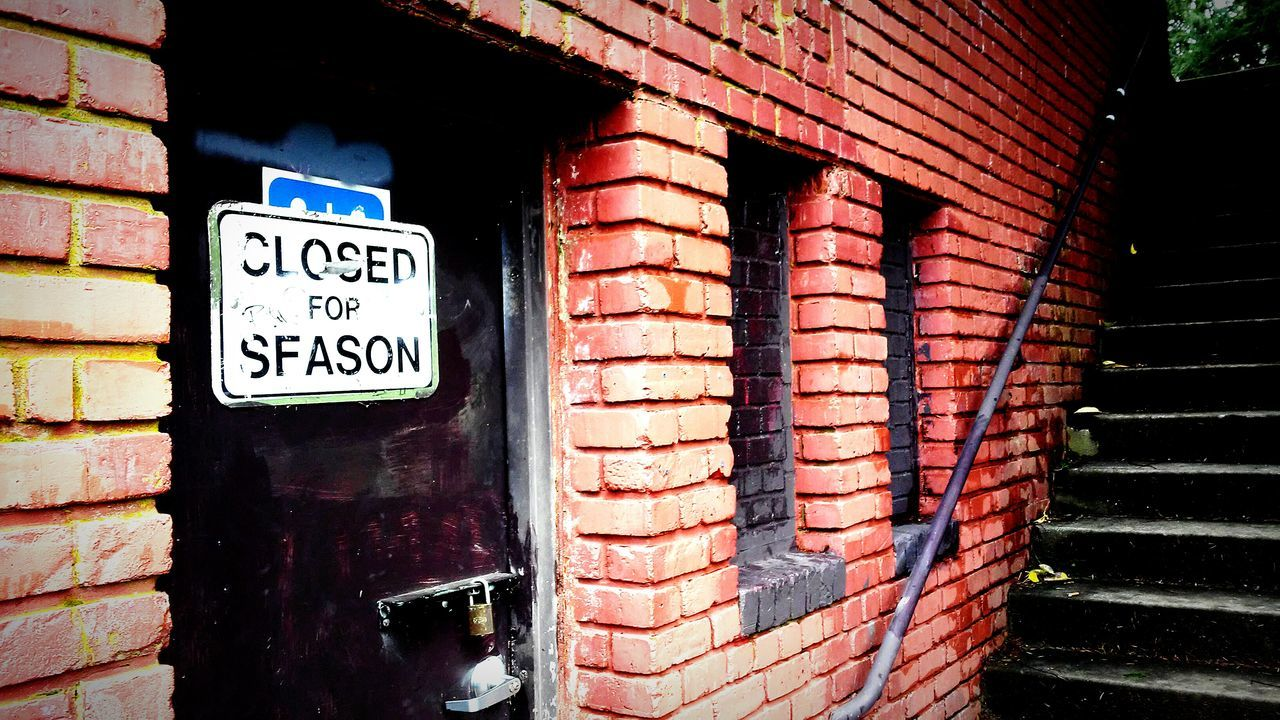 Brick Wall Building Exterior Communication Built Structure Text Outdoors Architecture City Day Store No People No Parking Sign Neon