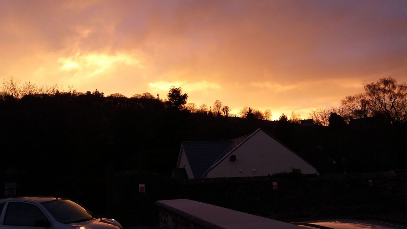 Unedited kendal sunset Sunset Town Kendal Cumbria First Eyeem Photo