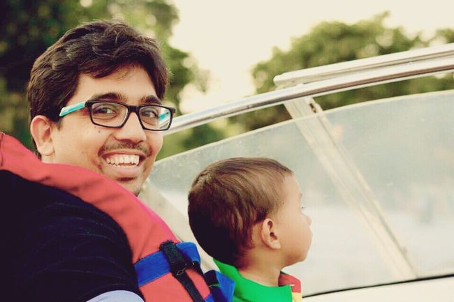 Boating Fun Weekend Father & Son