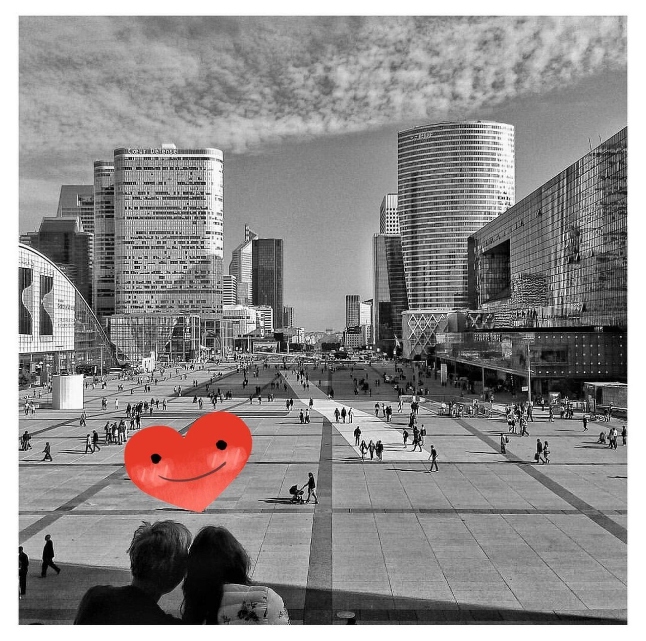Grande Arche De La Défense City Skyscraper Architecture People City Life Urban Skyline Love ♥ Instantcapture Cityscape France Ladefense Lovely SaintValentin StValentines Stvalentinesday